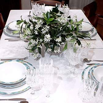 easy to do centerpiece with jasmine flowers