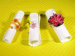 handmade decorated napkin rings
