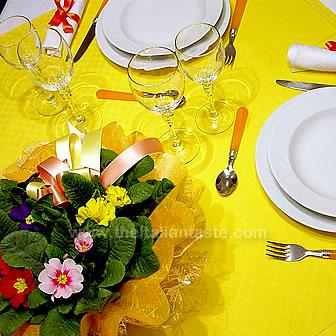 Yellow table for spring