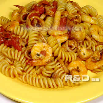 italian pasta with seafood
