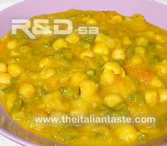 spanish soup with chickpeas
