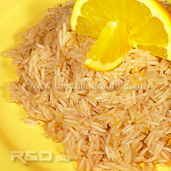 orange-flavoured rice